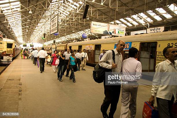 Chuch Gate train station in Mumbai Maharastra India