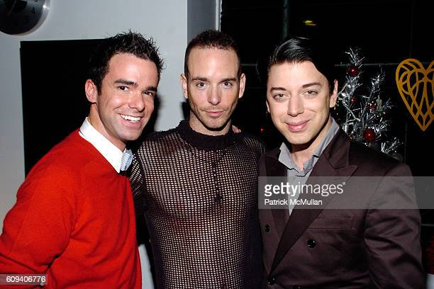 Chuck Attix Keath Keating and Malan Breton attend KolDesign/BoConcept 5th Annual Holiday Party at BoConcept on December 11 2007 in New York City
