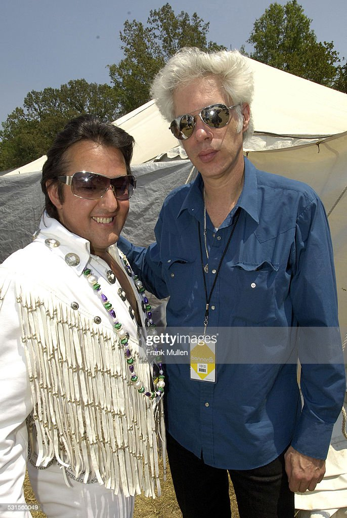 Chuck Baril and Jim Jarmusch during Bonnaroo 2007 - Day 3 - Backstage at Artist Hospitality in Manchester, Tennessee, United States.