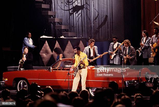 Photo of Chuck BERRY and Keith RICHARDS and Johnnie JOHNSON and Robert CRAY and Joe WALSH and Joey SPAMPINATO and Eric CLAPTON Johnnie Johnson Chuck...