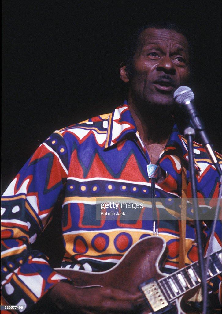 UK -Chuck Berry at the Edinburgh Playhouse 13 February 1988 . : News Photo
