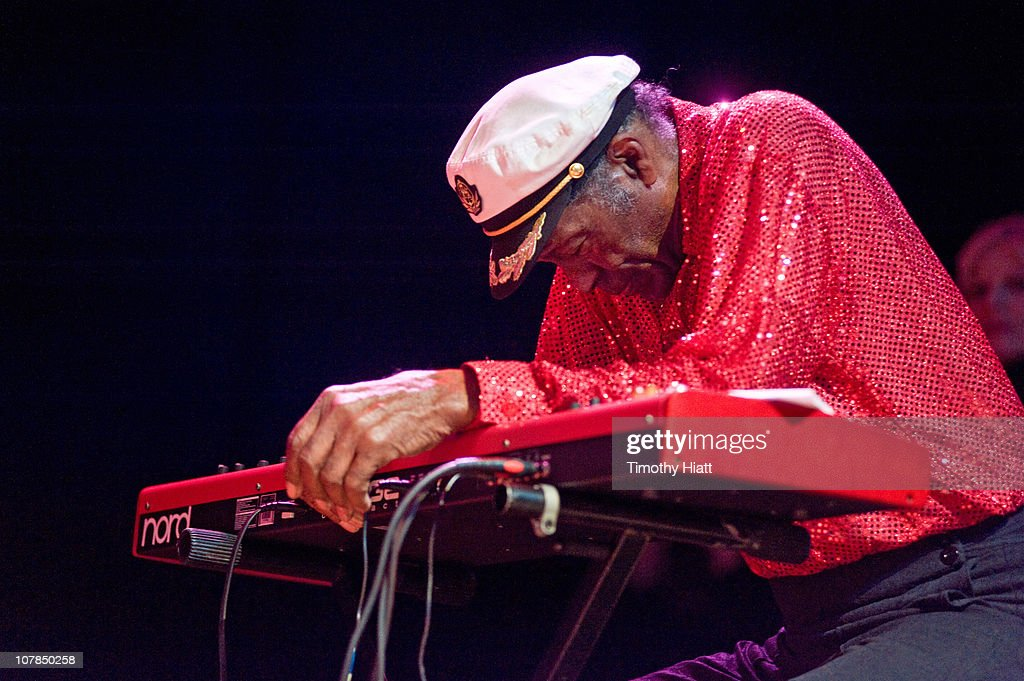 Chuck Berry collapses while performing at the Congress Theater on January 1, 2011 in Chicago, Illinois.