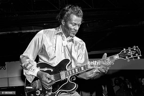 Chuck Berry performing at the Red Parrot in New York City on January 27 1983