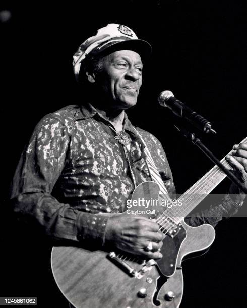 Chuck Berry performs at the Concord Pavilion in Concord, CA on July 18, 1999.