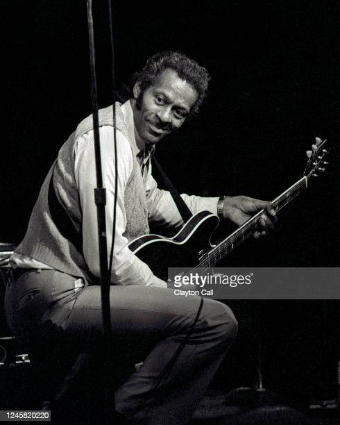 Chuck Berry performs at the Keystone Berkeley on February 5, 1984.