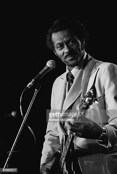 Chuck Berry performs live at The Old Waldorf Nightclub in 1979 in San Francisco California