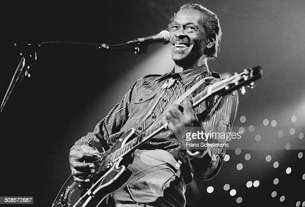 Chuck Berry vocalguitar performs at the North Sea Jazz Festival in the Hague Netherlands on 14th July 1995