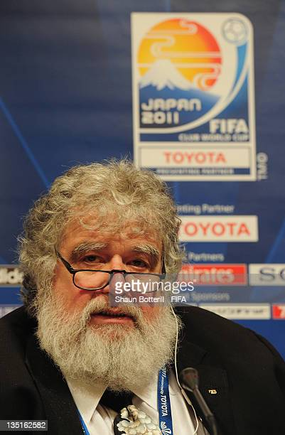 Chuck Blazer Chairman of the Organising Committee for the FIFA Club World Cup talks to the media during the FIFA Club World Cup Organising Committee...