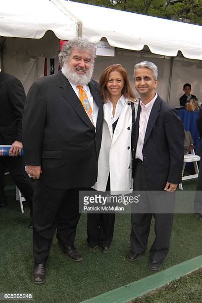 Chuck Blazer Marcella Ibanez and Sunil Gulati attend Randall's Island Sports Foundation and MasterCard Celebrate Soccer in the USA at Randall's...