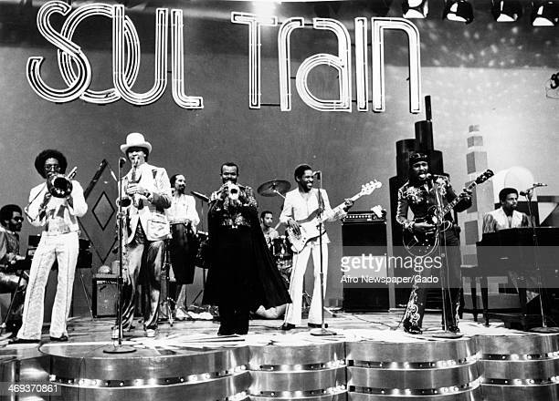 Chuck Brown and the Soul Searchers a band led by a singer who is called the Godfather of Go go and funk on stage on the Soul Train television show...