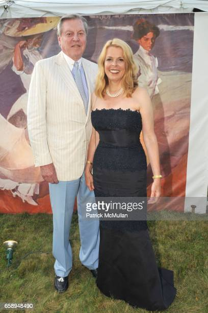 Chuck Brunie and Betsy McCaughey Ross attend 51st Annual SOUTHAMPTON HOSPITAL Summer Party at Wickapogue Road on August 1 2009 in Southampton NY