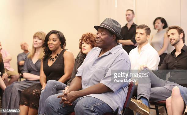 Chuck Cooper and cast attend the Meet Greet for the Manhattan Theatre Club's Broadway Premiere of 'Prince of Broadway' at the MTC Studios on July 20...
