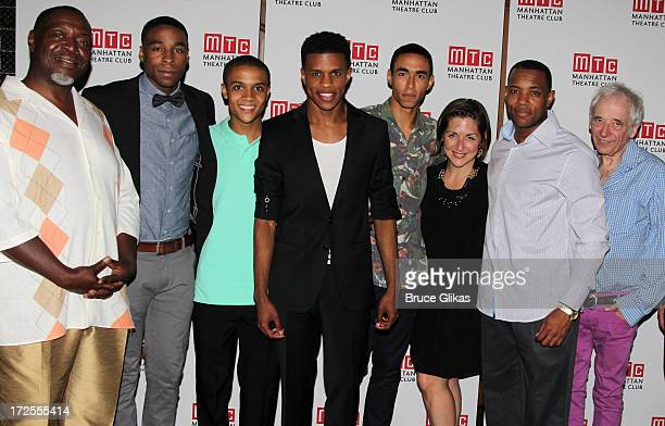 Chuck Cooper, Grantham Coleman, Nicholas Ashe, Jeremy Pope, Kyle Beltran, Mandy Greenfield, Wallace Smith and Austin Pendleton attend the opening...