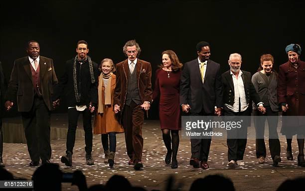Chuck Cooper Kyle Beltran Tavi Gevinson John Glover Diane Lane Harold Perrineau Joel Grey and Celia KeenanBolger with the cast during the Broadway...