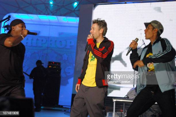 Chuck D and Adam Yauch of the Beastie Boys during 2004 VH1 Hip Hop Honors Show at Hammerstein Ballroom in New York City New York United States
