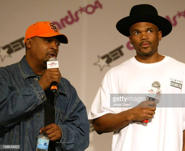 Chuck D and Darryl McDaniels of Run DMC during 4th Annual BET Awards - Media Room at Kodak Theatre in Hollywood, California, United States.