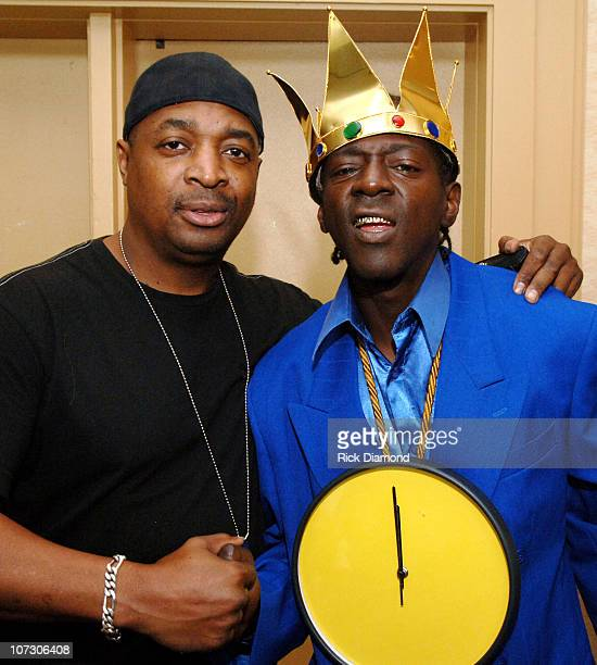 Chuck D and Flavor Flav during Billboard R B / Hip Hop Conference Day 3 at Renaissance Waverly Hotel in Atlanta Georgia United States