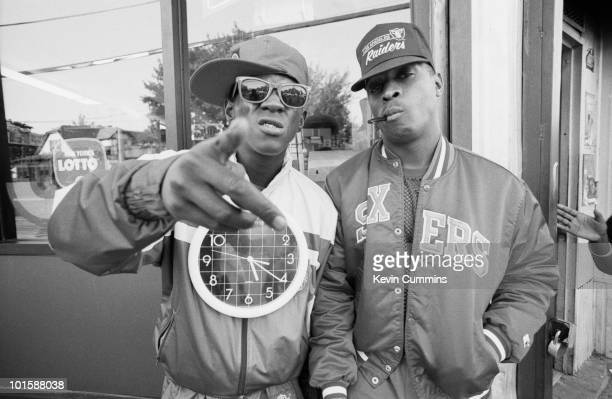 Chuck D and Flavor Flav of hip hop group Public Enemy in New York City on September 14 1988