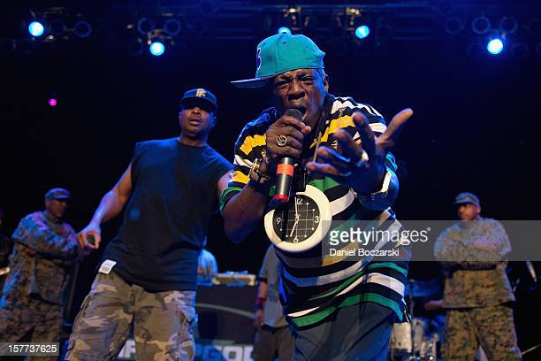 Chuck D and Flavor Flav of Public Enemy perform at House Of Blues Chicago on December 5 2012 in Chicago Illinois