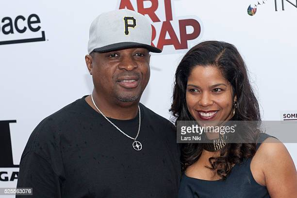 Chuck D and Gaye Theresa Johnson attend Something For Nothing The Art of Rap premiere at Alice Tully Hall in New York City �� LAN