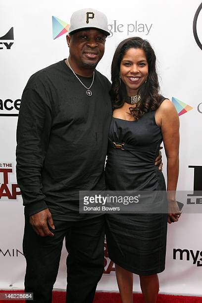 Chuck D and Gaye Theresa Johnson attend the New York Premiere Of IceT's Directorial Debut Film Something From Nothing The Art Of Rap on June 12 2012...