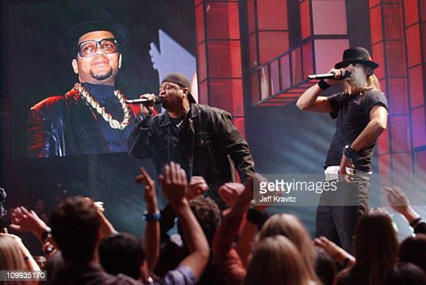 Chuck D and Kid Rock during VH1 Big in 2002 Awards Show at Grand Olympic Auditorium in Los Angeles California United States