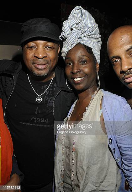 Chuck D and Phyllis Yvonne Stickney attend the HipHop Immortal Event courtesy of Corona presented by the National Museum of HipHop at Pink Elephant...