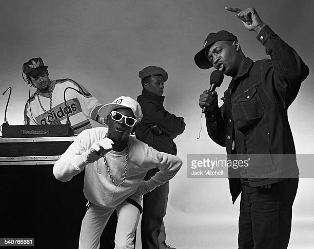 Chuck D Flavor Flav and Terminator X members of the hip hop group Public Enemy photographed on May 1 1987