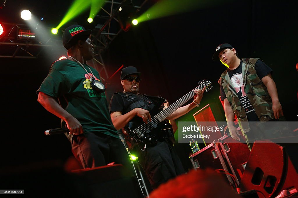 Chuck D, Flavor Flav, DJ Lord, The S1W and Professor Griff of Public Enemy performs at day 2 of the Forbidden Fruit festival at Royal Hospital Kilmainham on June 1, 2014 in Dublin, Ireland.