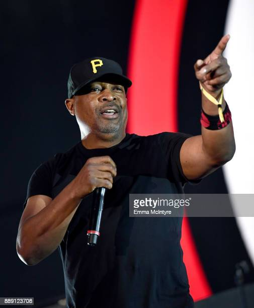 Chuck D of Prophets of Rage performs onstage at KROQ Almost Acoustic Christmas 2017 at The Forum on December 9 2017 in Inglewood California