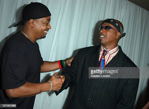Chuck D of Public Enemy and MC Hammer during 2004 VH1 Hip Hop Honors Audience and Backstage at Hammerstein Ballroom in New York City New York United...