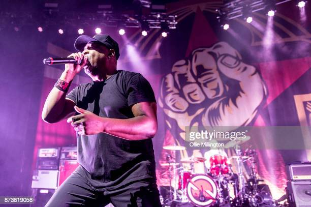 Chuck D of Public Enemy performs as part of Prophets of Rage live on stage at the O2 Forum Kentish Town on November 13 2017 in London England