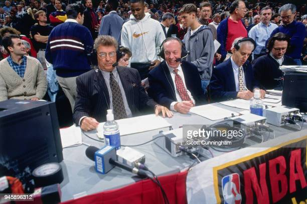 Chuck Daly at the game between the Orlando Magic and the Chicago Bulls on December 13 1995 at the United Center in Chicago Illiniois NOTE TO USER...