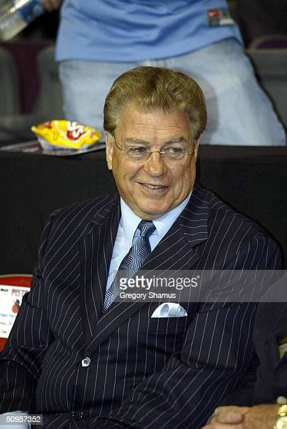 Chuck Daly former head coach of the Detroit Pistons attends game four of the 2004 NBA Finals between the Detroit Pistons and the Los Angeles Lakers...