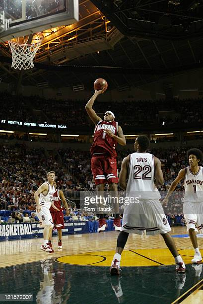 Chuck Davis of Alabama shoots the ball Alabama defeats Stanford 7067 during the second round of the 2004 Men's NCAA Basketball Tournament at Key...