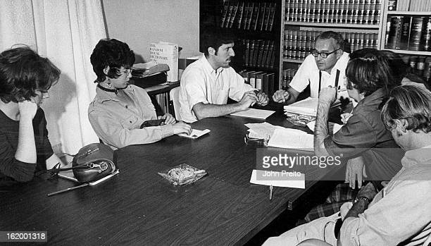 NOV 8 1970 Chuck Dillon East Side Legal Aid director explains tenants' rights under Colorado's tenantlandlord law Preparing for their roles as...