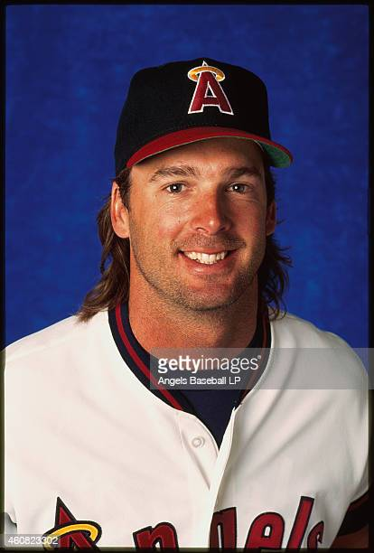 Chuck Finley of the California Angels smiles during a photo shoot Chuck Finley played with the Angels from 19861999