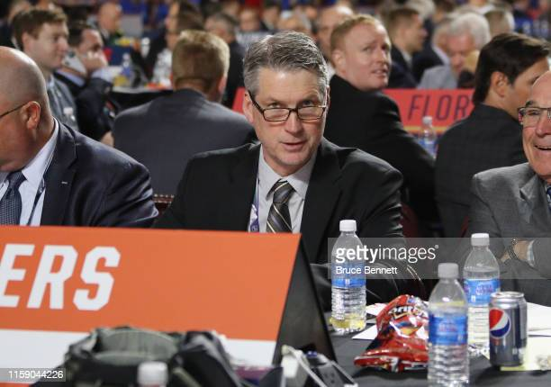 Chuck Fletcher of the Philadelphia Flyers attends the 2019 NHL Draft at the Rogers Arena on June 22 2019 in Vancouver Canada