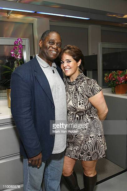 Chuck Fowler of Rainbow Productions and Rene Marie attends the New York Chapter of NARAS Open House Reception at New York Chapter Office on September...