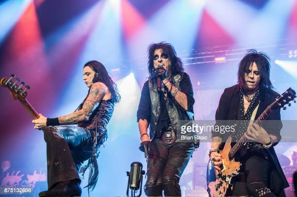 Chuck Garric Alice Cooper and Tommy Henriksen perform at Wembley Arena on November 16 2017 in London England