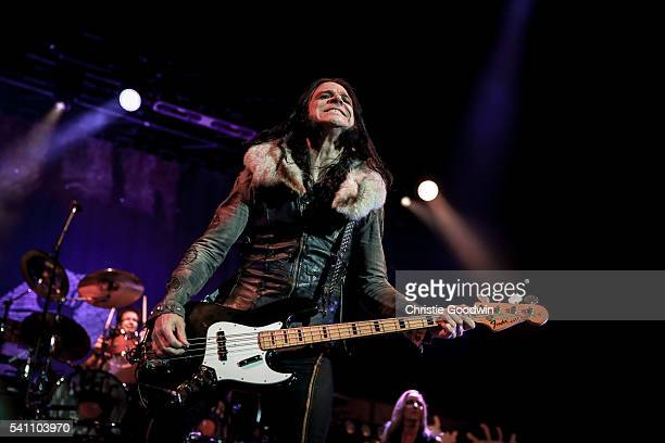 Chuck Garric of Alice Cooper's band performs on stage at The O2 Arena on June 18 2016 in London England