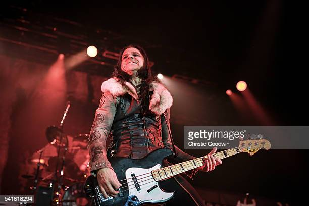 Chuck Garrick of Alice Cooper's band performs on stage at The O2 Arena on June 18 2016 in London England