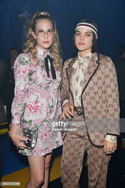 Chuck Grant and Soko attend the Gucci show during Milan Fashion Week Spring/Summer 2018 on September 20 2017 in Milan Italy