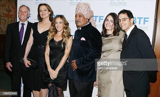Chuck Gulash Sigourney Weaver Sarah Jessica Parker His Highness Maharaja Gaj Singh II of MarwarJodhpur guest and Dr Jamshid Ghajar attend the Brain...