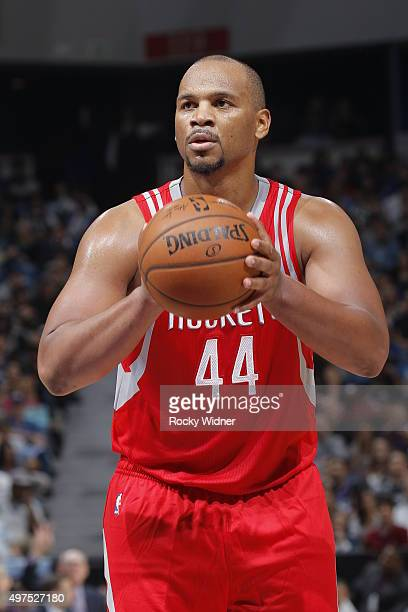 Chuck Hayes of the Houston Rockets attempts a free throw shot against the Sacramento Kings on November 6 2015 at Sleep Train Arena in Sacramento...