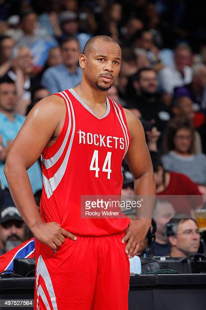 Chuck Hayes of the Houston Rockets looks on during the game against the Sacramento Kings on November 6 2015 at Sleep Train Arena in Sacramento...