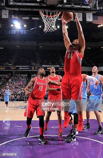 Chuck Hayes of the Houston Rockets rebounds against the Sacramento Kings on November 6 2015 at Sleep Train Arena in Sacramento California NOTE TO...