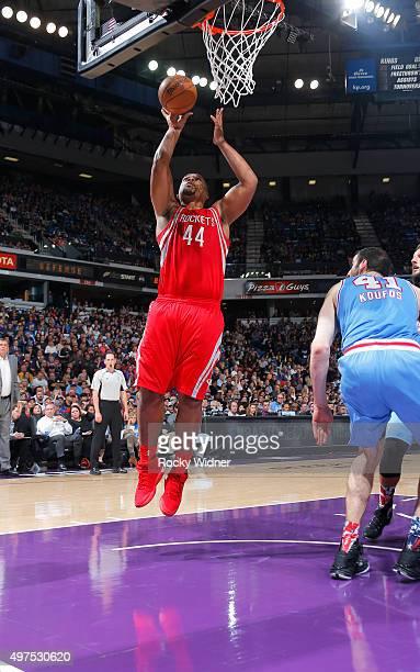 Chuck Hayes of the Houston Rockets shoots a layup against the Sacramento Kings on November 6 2015 at Sleep Train Arena in Sacramento California NOTE...