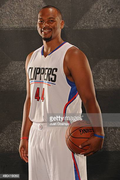 Chuck Hayes of the Los Angeles Clippers poses for a portrait during media day at the Los Angeles Clippers Training Center on September 25 2015 in...