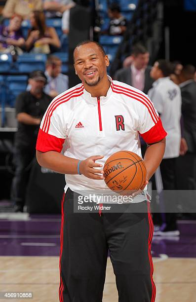 Chuck Hayes of the Toronto Raptors warms up against the Sacramento Kings on October 7 2014 at Sleep Train Arena in Sacramento California NOTE TO USER...